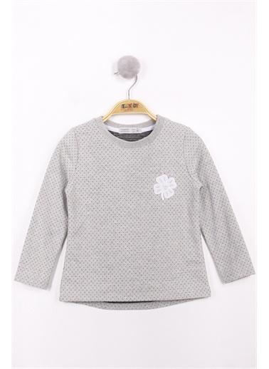 Toontoy Kids Toontoy Kız Çocuk Göğsü Yonca Nakışlı Sweatshirt Renkli